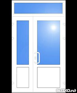 двери пвх входные с фрамугой