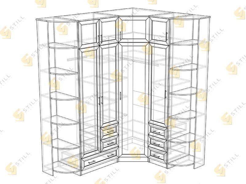 Угловой шкаф нкм-1 в москве. цена товара 28 950 руб., в нали.
