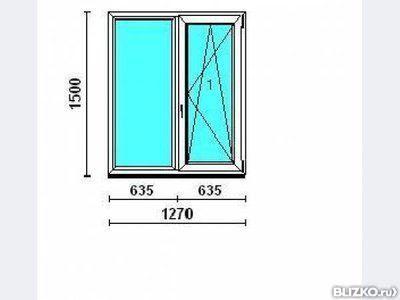 Окно раздвижное пластиковое 3400*1300 от компании оконница к.