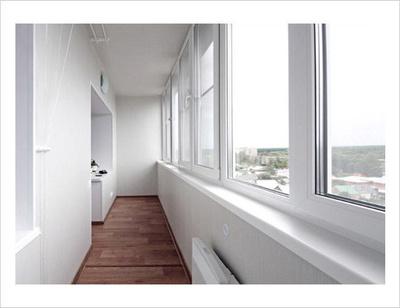 Холодное остекление балконов и лоджий алюминиевым профилем о.