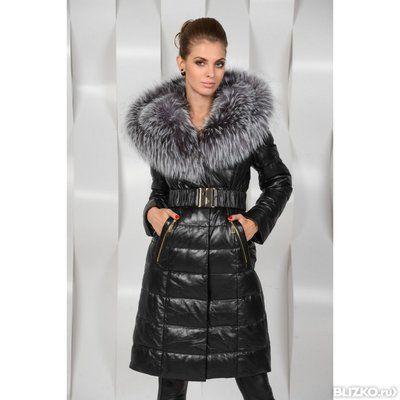 392b7202e5b Зимнее кожаное пальто с мехом в Сергиевом Посаде. Цена товара ...