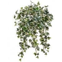 Плющ искусственный куст бело-зеленый, 50см.
